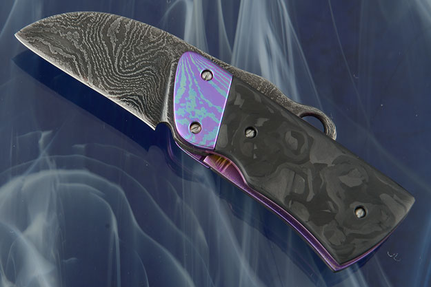 Troublemaker with Marbled Carbon Fiber and Damascus