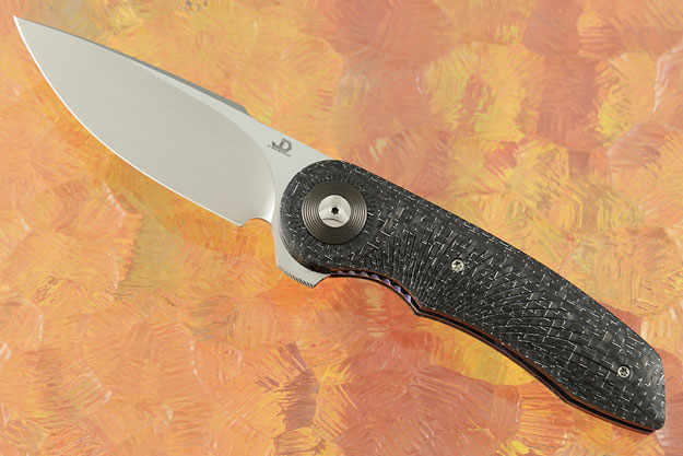Gold Mini Flipper with Silver Strike Carbon Fiber and Zirconium Pivot Collar (IKBS)
