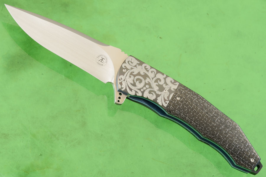 L53 Flipper with Silver Strike Carbon Fiber and Zirconium (Ceramic IKBS) - CTS-XHP