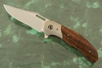 #33 Liner Lock Flipper with Koa and Titanium