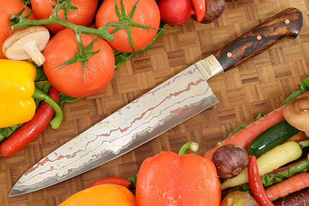 Chef's Knife (Gyuto) with Yu-Shoku and Ironwood (9.4 in)