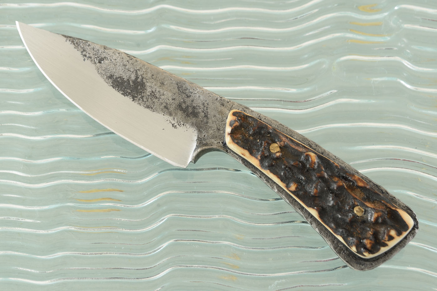Ranch Hand Brut de Forge Utility Knife with Stag
