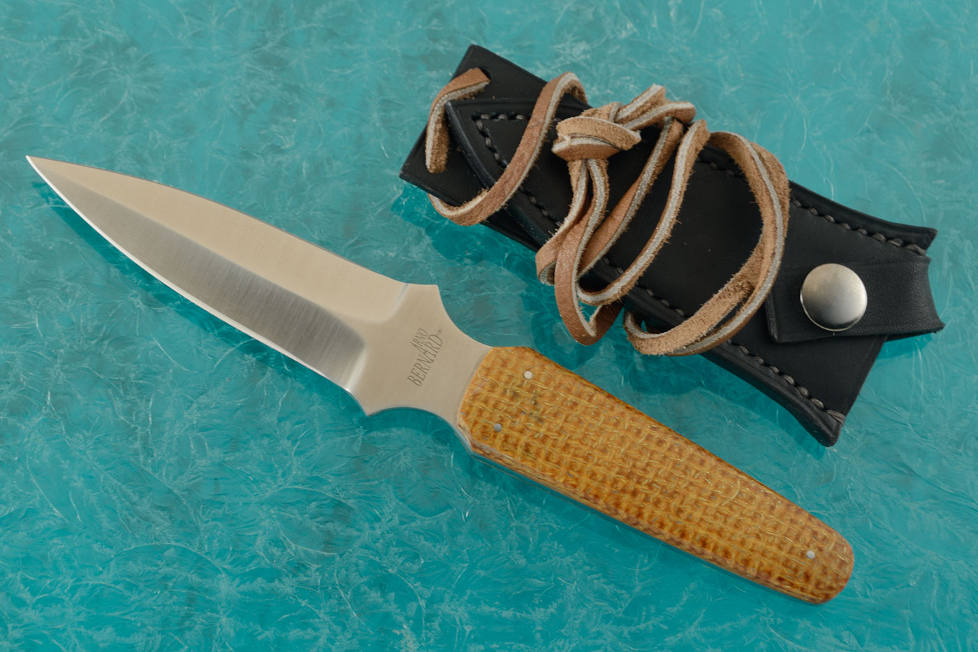 Neck Knife with Thunderstorm Kevlar