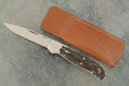Model F-1-B Folder with Stag Bone