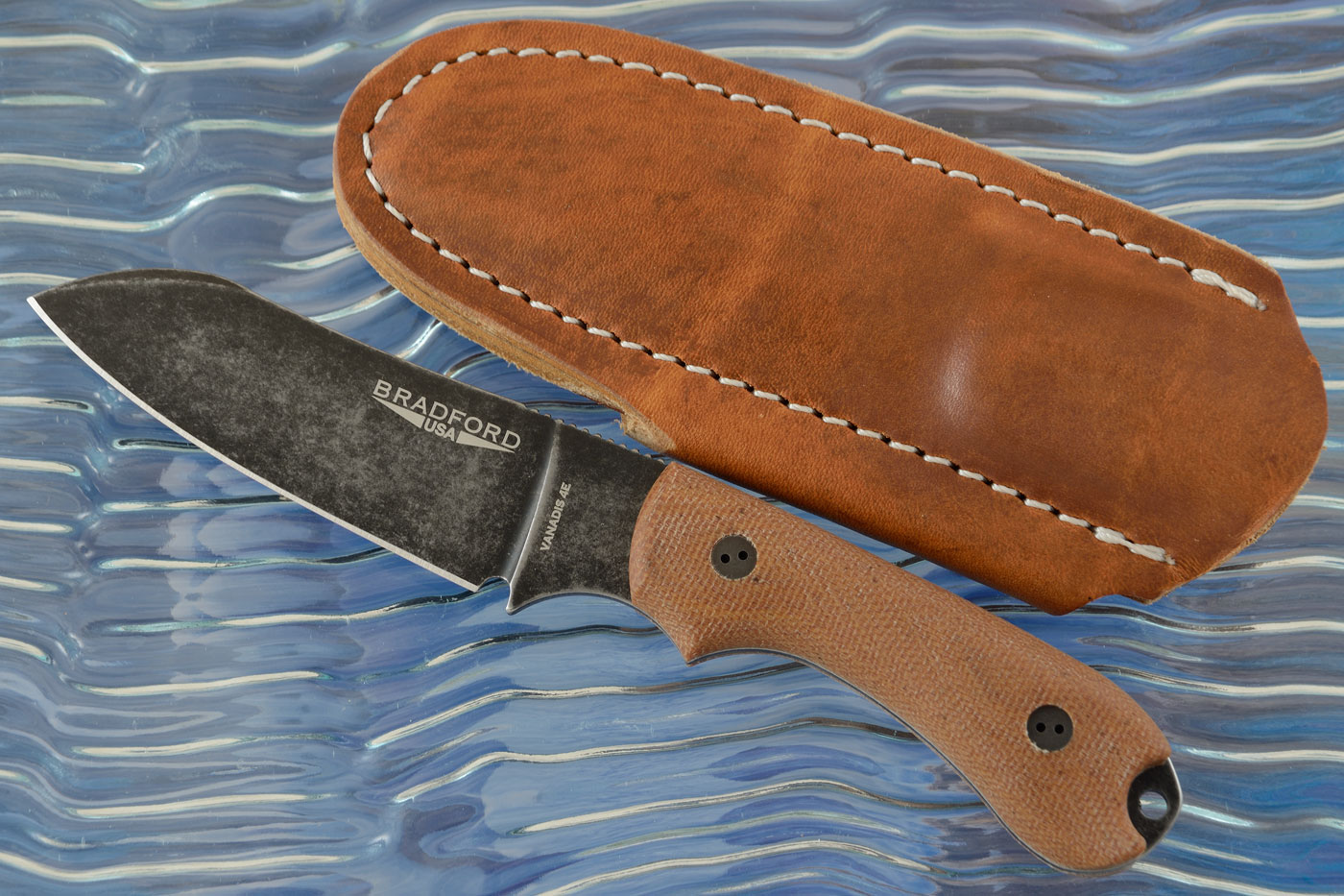 Guardian 3 - 3D Natural Micarta, Vanadis 4E, Nimbus Blade, Sheepsfoot Grind