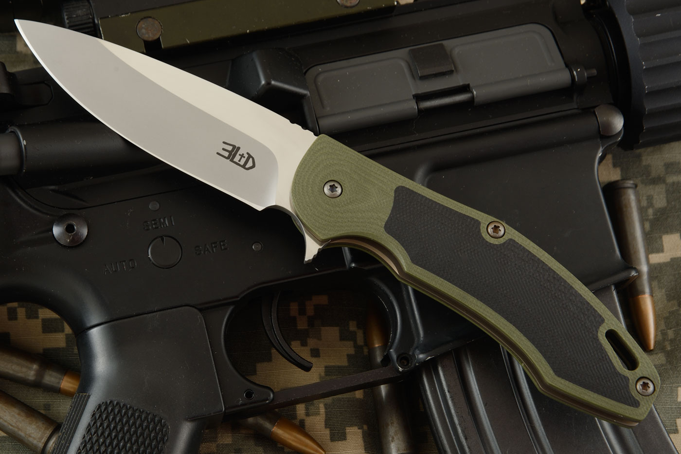 H4 Flipper with Green and Black G10 (Ceramic IKBS)