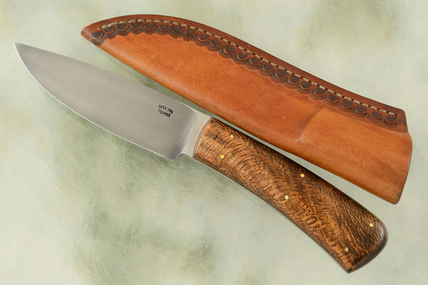 Drop Point Utility/Hunter with Wild Wood Burl