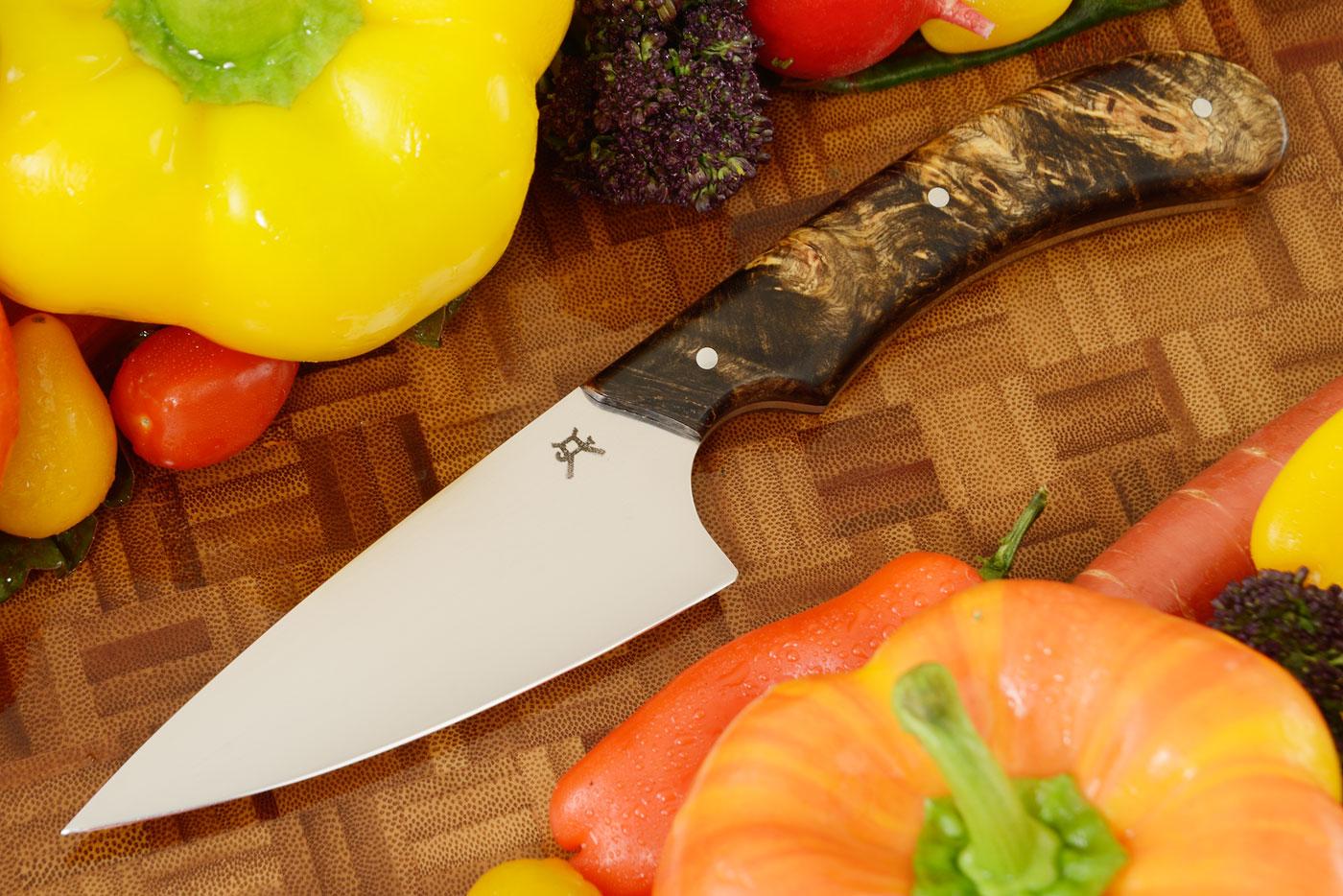 Chef's Knife (4-1/4 in) with Buckeye Burl