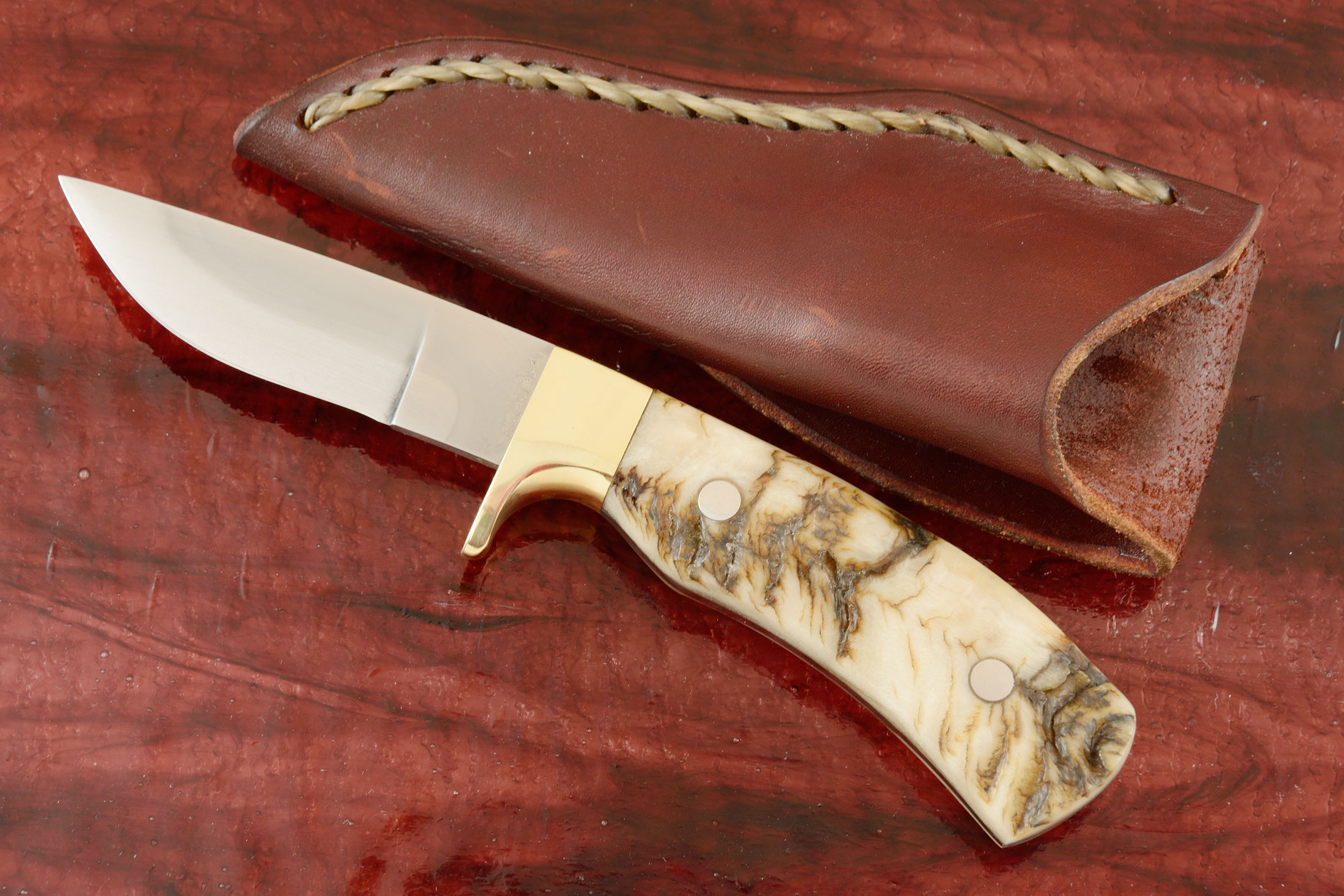 Full Tang Sheep Horn Hunter (Prototype 2)