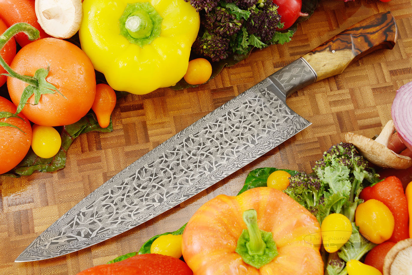 Mosaic Damascus Chef's Knife (10-1/2) with Ironwood - <i>Best Damascus</i>, OKCA 2019