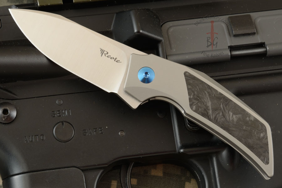 T2500 Frame Lock Flipper with Ti, Marbled Carbon Fiber, and M390