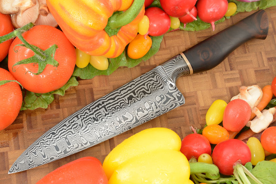 Integral Damascus Workhorse Chef's Knife (7-3/4 in.) with Ironwood